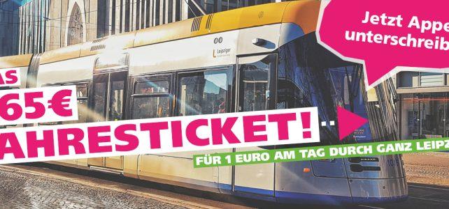 LINKE Leipzig begrüßt ausdrücklich die Diskussion zum 365 € ÖPNV Ticket