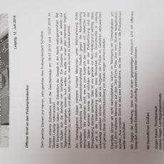 Offener Brief an den Polizeipräsidenten – Leipzig, Hildegardstr